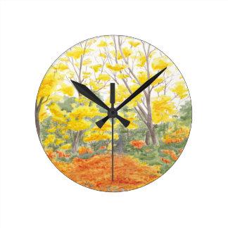 Reloj Redondo Mediano Follaje de otoño en Adlershof