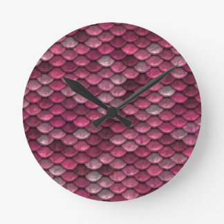 Reloj Redondo Mediano Fondo rosado de Snakeskin
