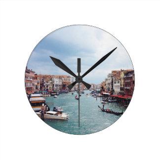 Reloj Redondo Mediano Foto del canal de Italia Venecia del vintage