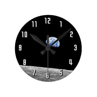Reloj Redondo Mediano Foto lunar de la órbita de la luna de la NASA