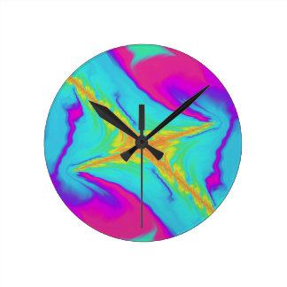 Reloj Redondo Mediano fractal insomne del saludo