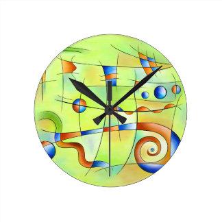 Reloj Redondo Mediano Frenesia - mundo enojado