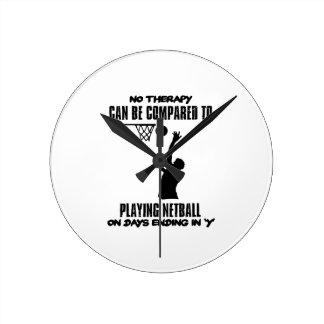 Reloj Redondo Mediano fresco y tendiendo DISEÑOS del netball