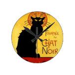 Reloj Redondo Mediano Gato negro Vintage Tournée du Chat Noir, Theophile