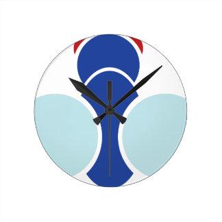 Reloj Redondo Mediano Gráfico de la mosca