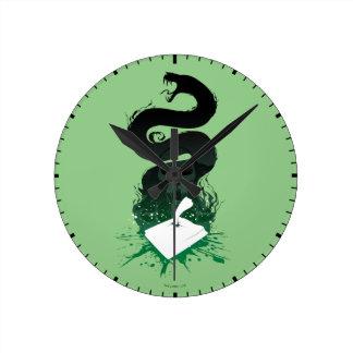 Reloj Redondo Mediano Gráfico del diario de la criba de Harry Potter el