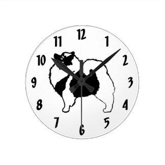 Reloj Redondo Mediano Gráficos del Keeshond
