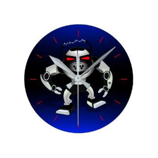 Reloj Redondo Mediano Guerrero del ataque del robot
