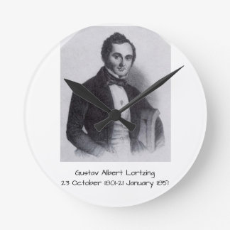 Reloj Redondo Mediano Gustavo Albert Lortzing