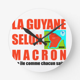 Reloj Redondo Mediano Guyana según Macron es una isla