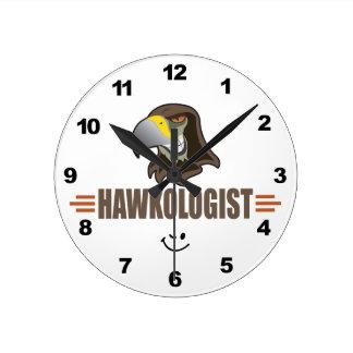 Reloj Redondo Mediano HALCONES - pájaros, mascota del equipo de deportes