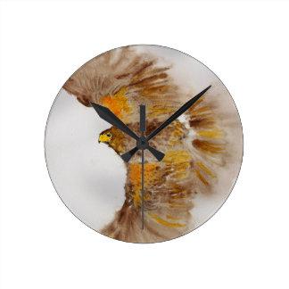 Reloj Redondo Mediano Harris Hawk, ave rapaz