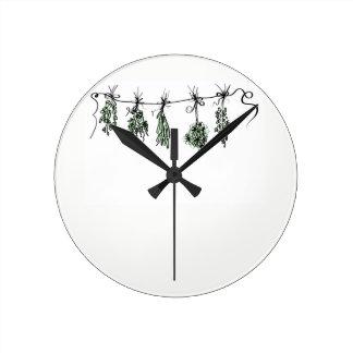 Reloj Redondo Mediano Hierbas