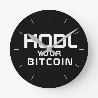 Reloj Redondo Mediano HODL su bitcoin