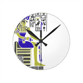 Reloj Redondo Mediano Horus el halcón Egyption Heiroglyph