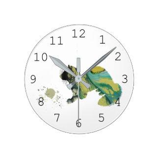 Reloj Redondo Mediano Hurón con el juguete