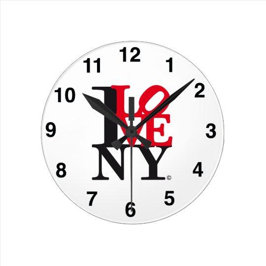Reloj Redondo Mediano I Love New York NY O'clock L. Edition