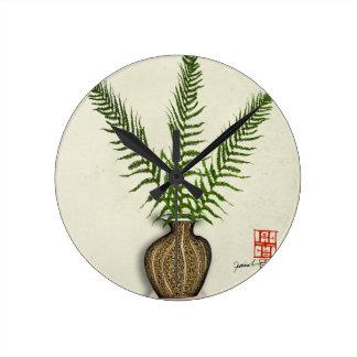 Reloj Redondo Mediano ikebana 18 por los fernandes tony