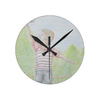 Reloj Redondo Mediano ir volando