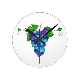 Reloj Redondo Mediano Jamurissa - uvas cuadradas
