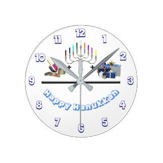Reloj Redondo Mediano Jánuca feliz