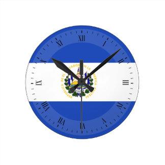 Reloj Redondo Mediano La bandera de El Salvador