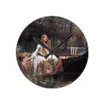 Reloj Redondo Mediano La dama de Shalott por John W. Waterhouse