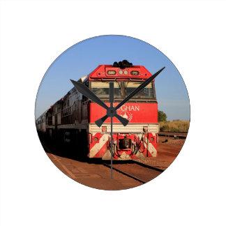 Reloj Redondo Mediano La locomotora del tren de Ghan, Darwin