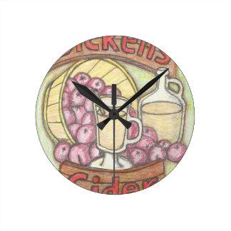 Reloj Redondo Mediano La sidra de Dickens nada siente muy como buena