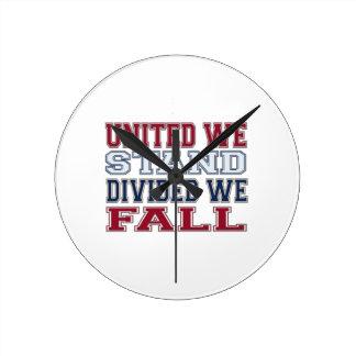 Reloj Redondo Mediano La unión hace la fuerza camisetas y regalo