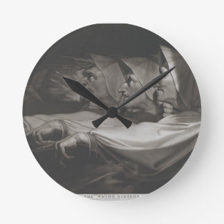 Reloj Redondo Mediano Las hermanas extrañas (Shakespeare, Macbeth)