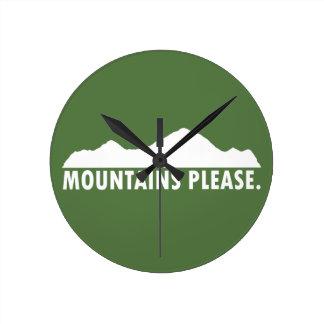 Reloj Redondo Mediano Las montañas satisfacen