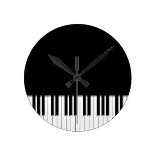 Reloj Redondo Mediano Llaves de teclado de piano