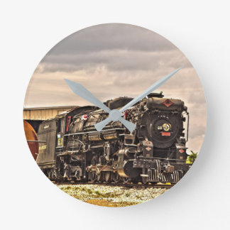 Reloj Redondo Mediano Locomotora de vapor 610