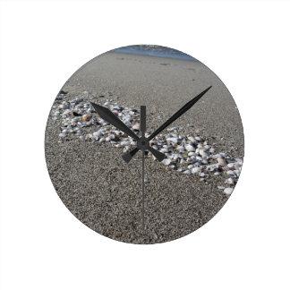 Reloj Redondo Mediano Los Seashells el verano de la arena varan la