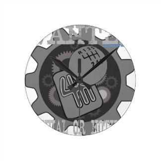Reloj Redondo Mediano manual querido o nada (caja de cambios)