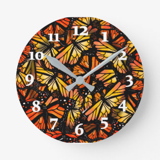 Reloj Redondo Mediano MARIPOSAS de MONARCA por Slipperywindow