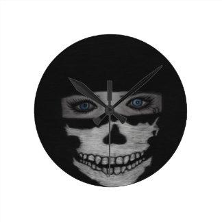 Reloj Redondo Mediano Máscara del cráneo