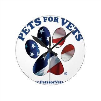 Reloj Redondo Mediano Mascotas para los veterinarios
