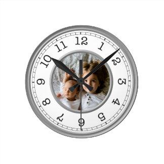Reloj Redondo Mediano Minimalist moderno de la foto de encargo