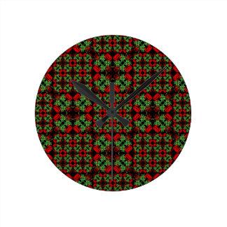 Reloj Redondo Mediano Modelo adornado asiático del remiendo