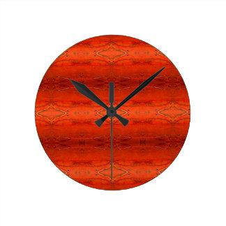 Reloj Redondo Mediano Modelo azteca anaranjado