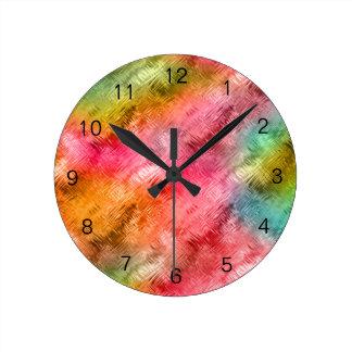 Reloj Redondo Mediano Modelo colorido del cristal
