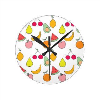 Reloj Redondo Mediano modelo de la fruta