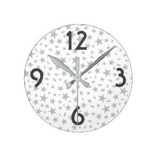 Reloj Redondo Mediano Modelo de la impresión de las estrellas de los