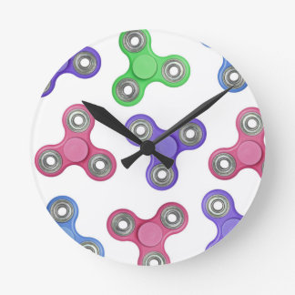 Reloj Redondo Mediano Modelo del hilandero de la persona agitada