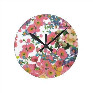 Reloj Redondo Mediano modelo floral del tema de las flores elegantes del