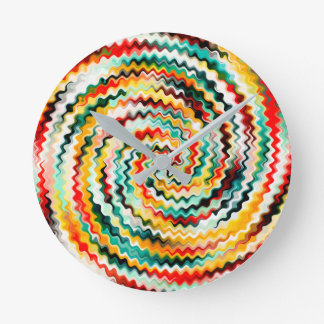 Reloj Redondo Mediano Modelo multicolor colorido