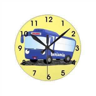 Reloj Redondo Mediano Moderno ilustracion de personalizado de autobús a