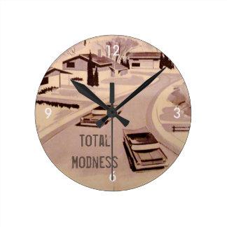 Reloj Redondo Mediano ¡Modness total! Moderno retro